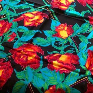 Liz Claiborne flowered silk scarf